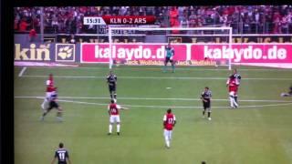 FC Cologne v Arsenal 1-2 Gervinho first 2 goals for Arsenal