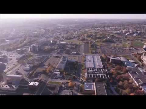 Flying over Youngstown Landmarks HD
