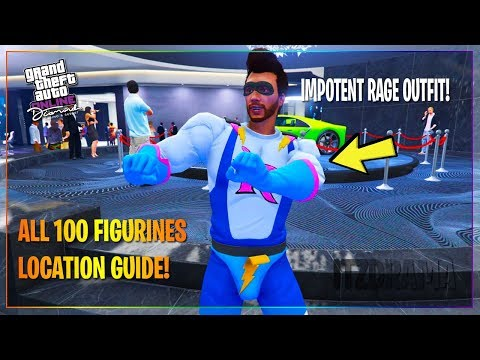 GTA 5 ONLINE - ALL 100 FIGURINES LOCATIONS! UNLOCK IMPOTENT RAGE OUTFIT!
