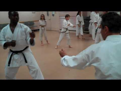 Kumite practice line attack