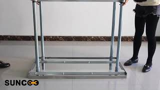 How To Install SUNCOO Commercial Stainless Steel Work Table Food Grade