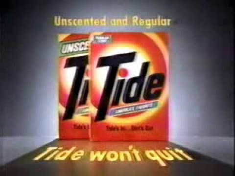 Tide laundry detergent ad from 1985