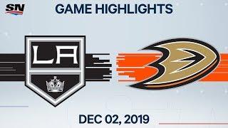 NHL Highlights   Kings vs. Ducks - Dec. 02, 2019