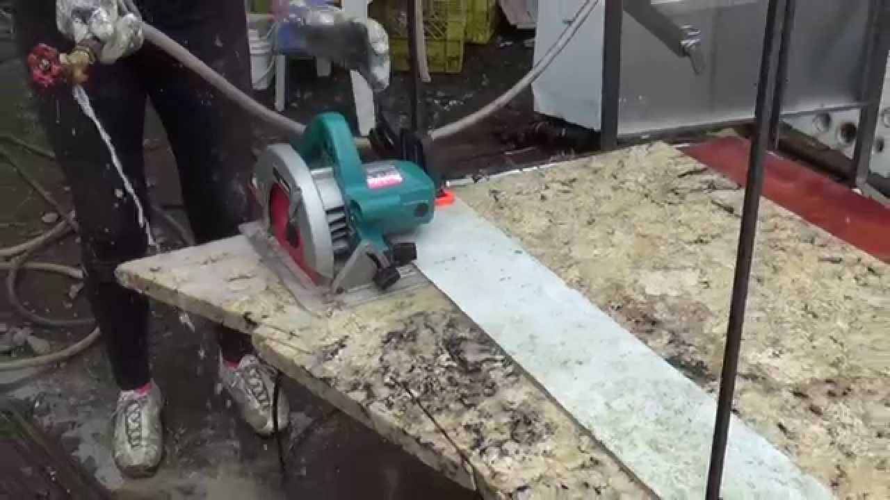 Cutting Granite For Stone Table Top   YouTube