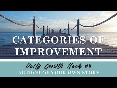 AYS Daily Growth Hacks 008 Categories of Improvement