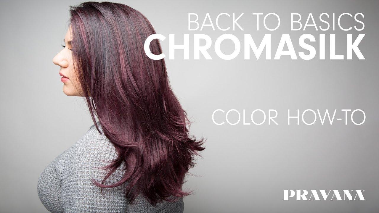Pravana 180 Chromasilk Back To Basics Hair Color How To Youtube