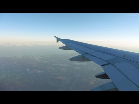 Finnair Airbus A320 ✈ FULL FLIGHT Helsinki Vantaa to Stockholm Arlanda at Sunset