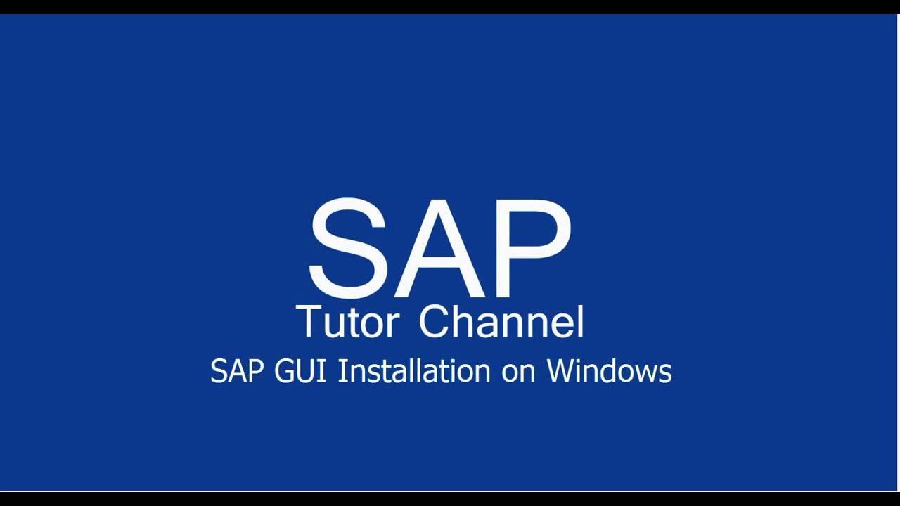 SAP GUI Installation on Windows