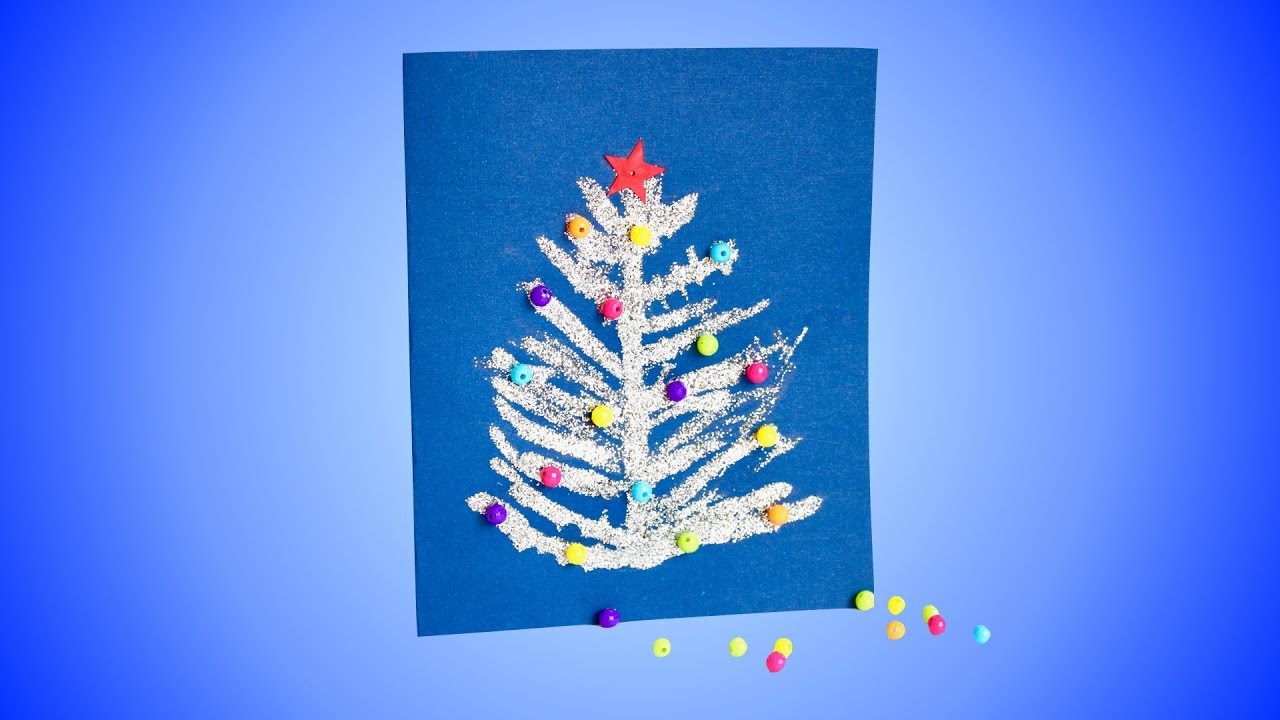 how to make glitter christmas cards