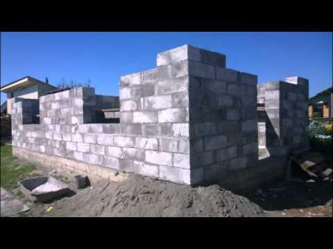 видео: Дом из пеноблока 90 м 2 за 15 дней