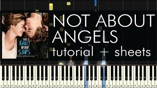 not about angels piano tutorial how to play birdy