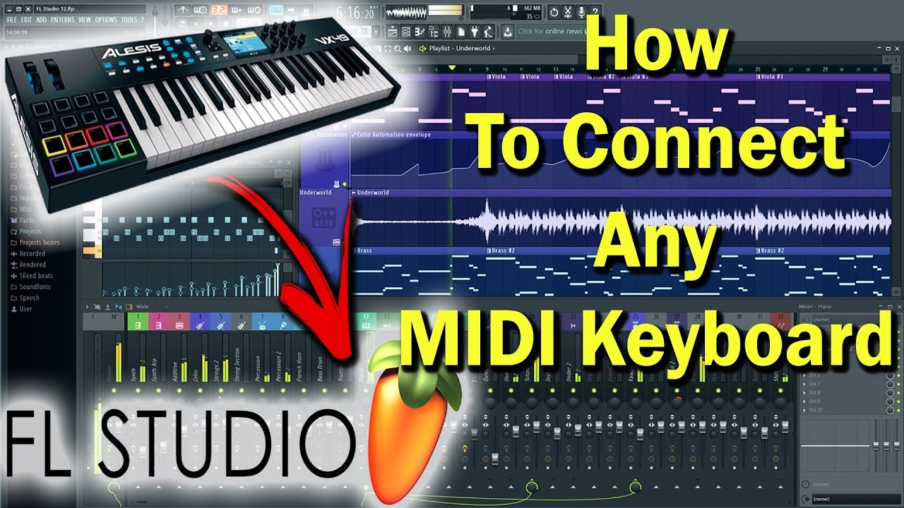 how to connect any midi keyboard to fl studio 12 midi intrument gaurav bhosle youtube. Black Bedroom Furniture Sets. Home Design Ideas