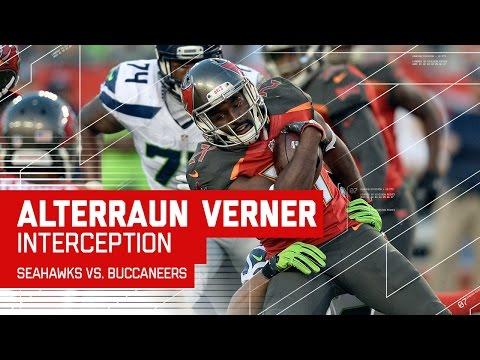 Alterraun Verner Gets Emotional After Interception | Seahawks vs. Buccaneers | NFL