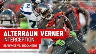 Alterraun Verner Gets Emotional After Interception | Seahawks vs. Buccaneers | NFL