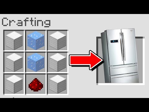 Minecraft : How To Make  A WORKING FRIDGE(NoMods) (Ps3/Xbox360/PS4/XboxOne/Pocket Edition)