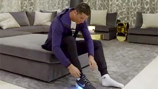Cristiano Ronaldo Wears First Self-Lacing Shoes