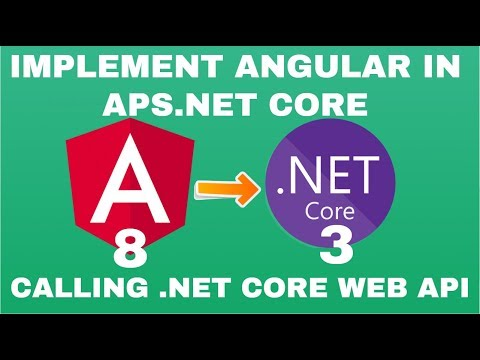 **Angular 8 with ASP.NET Core 3.0** for beginners   Calling Web API with Example thumbnail