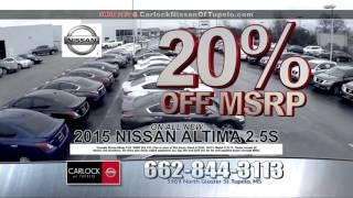 Carlock Nissan of Tupelo: January 2016 TV Commerical