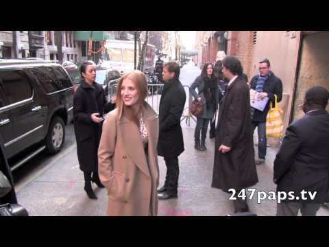 JESSICA CHASTAIN GOLDEN GLOBE WINNER, THE GREATEST IN NYC