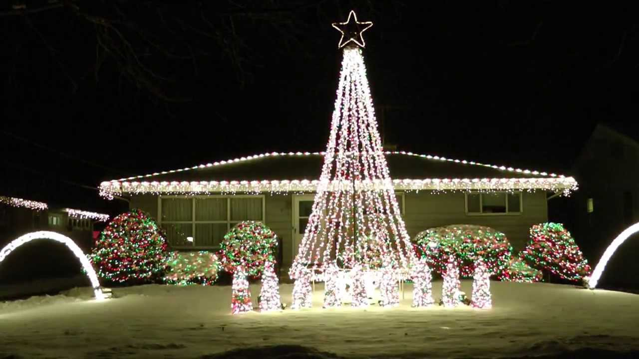 2013 amazing christmas lights synced to music trans siberian orchestra sarajevo 1224 youtube