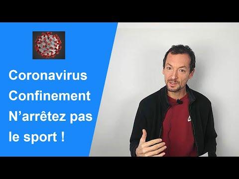 Coronavirus et confinement, n'arrêtez-pas le sport + conseils forme physique