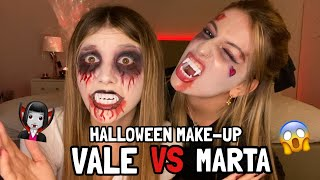 VALE VS MARTA: HALLOWEEN MAKE-UP *divertente* ♕