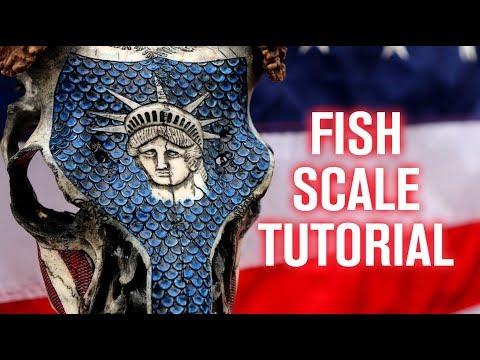 Skull Carving Technique: Fish Scales