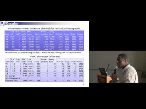 """""""Agricultural Virtual Water Trade and Water Footprint of U.S. States"""" by Stanley Mubako"""