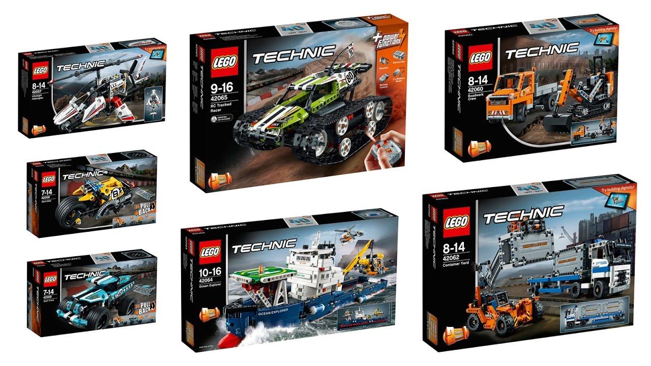 New Lego Technic Sets 2017 1st Half Youtube