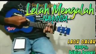 Gambar cover Coba dengerin||lelah mengalah-nayunda full lirik versi ukulele by pempes