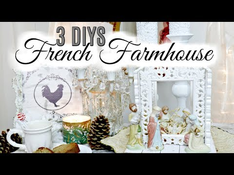 "💖3 DIY DOLLAR TREE THRIFT STORE FRENCH FARMHOUSE DECOR CRAFTS 💖""Home Sweet Home"" Ep.1"