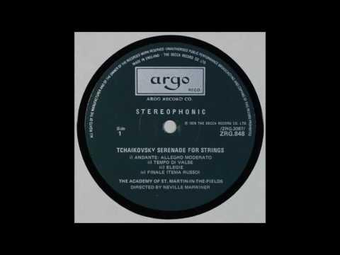 Tchaikovsky , Serenades For Strings , Neville Marriner