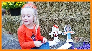Snap Dolls Halloween Doll W/ Changeable Clothes for Baby Dolls & Play Doh Girl Playing with Dolls