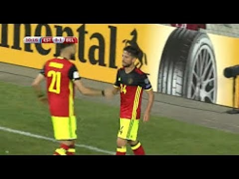 Estonia Vs Belgium 0-2 All Goals & Highlights - World Cup Qualifiers - 09/06/21017 H