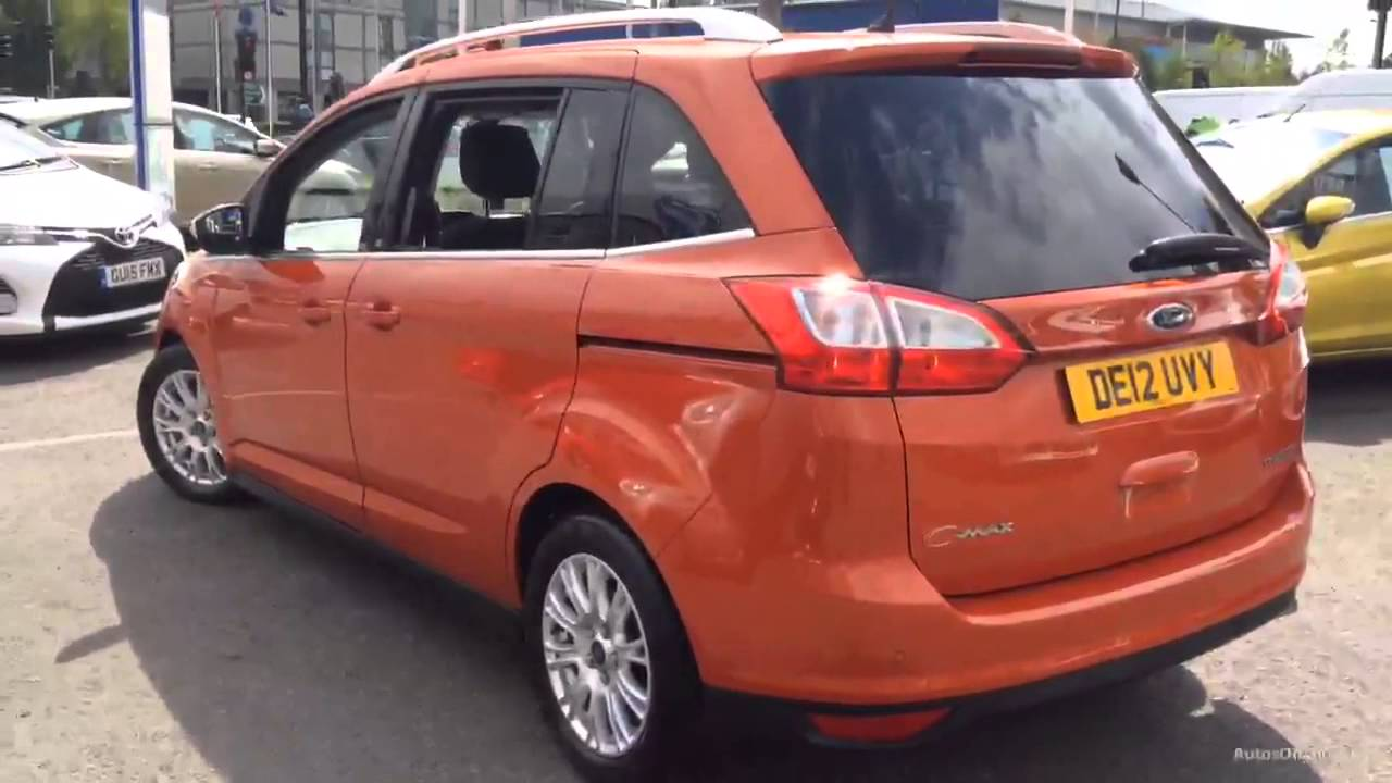 ford c max grand titanium tdci red 2012 youtube. Black Bedroom Furniture Sets. Home Design Ideas