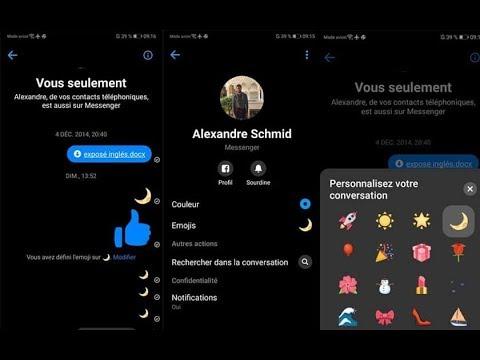 TUTO Astuce Facebook Messenger Comment Activer Le Mode Nuit Ou Mode Sombre  Débloqué Le Menu Caché !