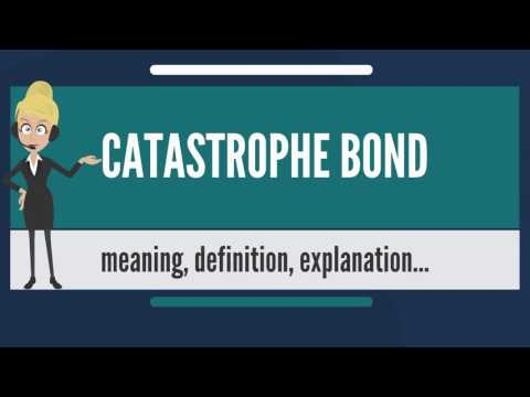 What is CATASTROPHE BOND? What does CATASTROPHE BOND mean? CATASTROPHE BOND meaning & explanation