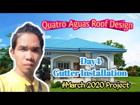 Quatro Aguas Roof Design Gutter Installation Youtube