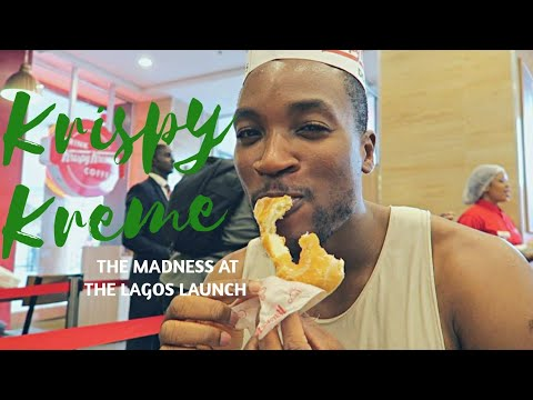 The Madness at KrispyKreme Lagos Launch!!