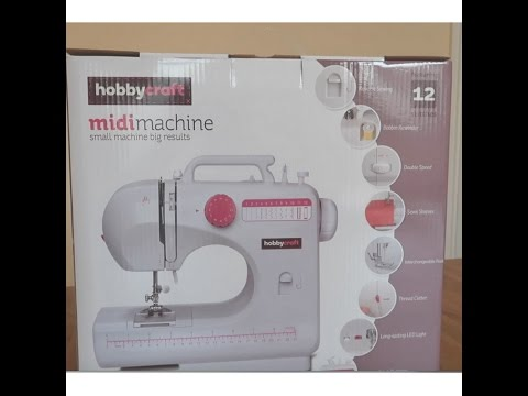 Unboxing The HobbyCraft Midi Sewing Machine With Review YouTube Adorable Brother Sewing Machine Hobbycraft