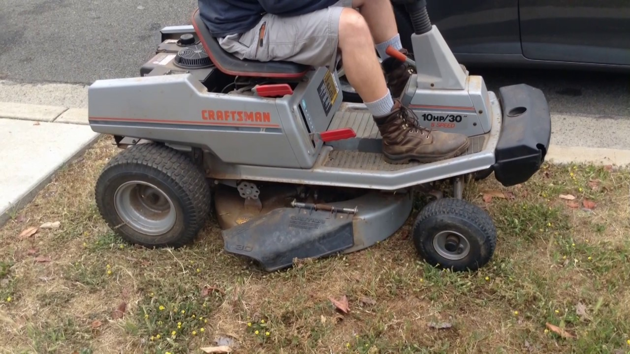 Craftsman Ii Riding Lawnmower 30 10 Hp Rear Engine Model 502 255090 Youtube