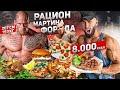 НЕРЕАЛЬНЫЙ РАЦИОН САМОГО БОЛЬШОГО БОДИБИЛДЕРА ПЛАНЕТЫ | МАРТИН ФОРД | 8000 калорий