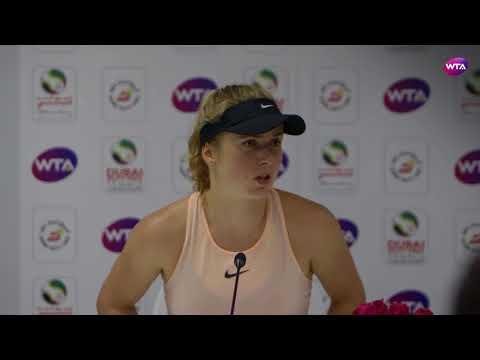 2018 Dubai press conference: Elina Svitolina looks ahead to Naomi Osaka