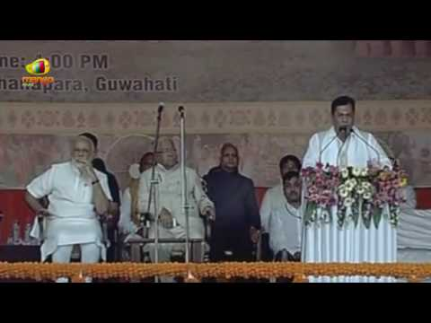Sarbananda Sonowal Speech As Assam's Chief Minister   First BJP Chief Minister of Assam   Mango News