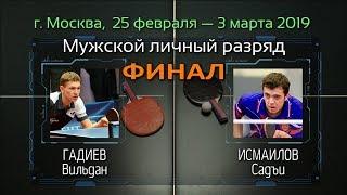 ФИНАЛ Чемпионата России 2019 (мужчины) Гадиев В./ Исмаилов С.