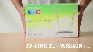 TP-LINK TL-WR840N Ver 2.0 Wireless Router Unboxing, Review and Setup