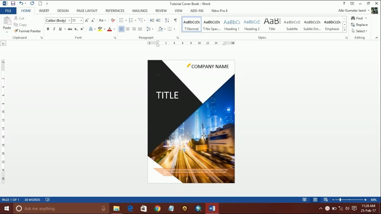 Book Cover Design Microsoft Word : How to design a book cover using ms word part