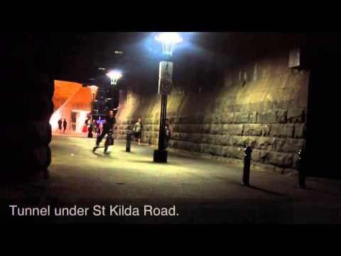 Night Trikke In Melbourne HD