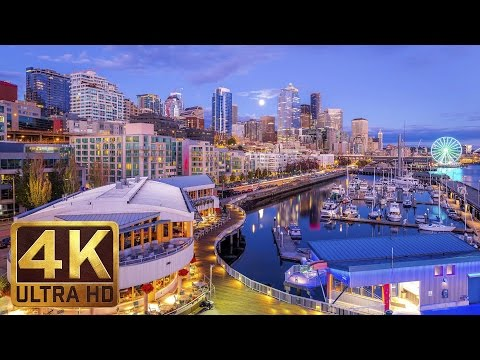 View from Pier 66 - 2.5 Hours of City Sounds - 4K Urban Relaxation Video from Seattle