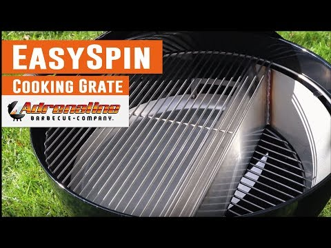 EasySpin Cooking Grate - New replacement grill grate for Weber Kettle
